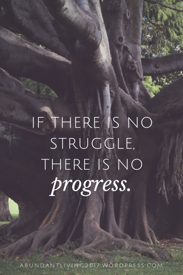 if there is no struggle, there is no
